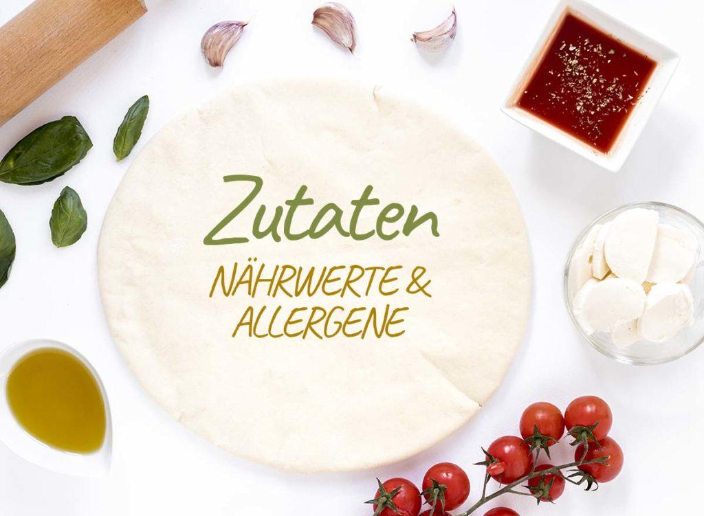 Zutaten - TCW Club Restaurant Waiblingen